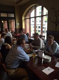 gordon biersch was a great selection in the arena district we had a robust meeting with a round table discussion of tca