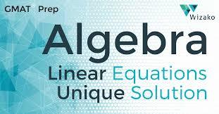 system of linear equations no unique solution gmat math practice questions wizako gmat courses