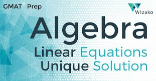 system of linear equations no unique solution gmat math practice questions wizako gmat courses