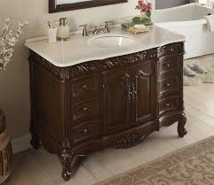 Antique Bathroom Cabinets Adelina 42 Inch Antique Bathroom Vanity Fully Assembled White