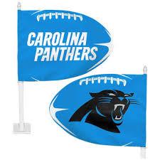carolina panthers garden flag. WinCraft Carolina Panthers Football Shaped Car Flag Garden O