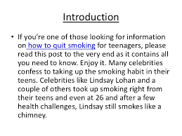 essay how to quit smoking the zadluzony quit smoking help for teenagers