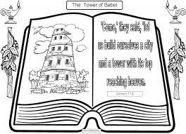 Small Picture Tower Of Babel Coloring Pages Bible Coloring Pages Pinterest