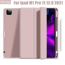 Ốp Máy Tính Bảng Có Ngăn Đựng Bút Cảm Ứng Cho Ipad Air 4 Pro 11 Case 2020  For Ipad Pro 12.9 Case 2021 5th Generation Giá Đỡ - Ốp Lưng Máy Tính Bảng