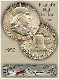 1960 Half Dollar Value Chart 1950 Franklin Half Dollar Value Discover Their Worth