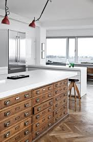 used kitchen furniture. Architects Cabinet Used As A Kitchen Island Furniture