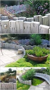 give your garden a rustic look with weathered wood sleepers