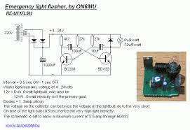 electrnoic circuit diagrams emergency light flasher schematic