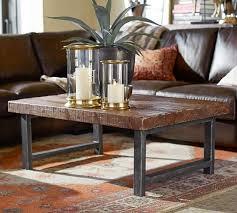 pottery barn reclaimed wood coffee table collection griffin reclaimed wood coffee table 18 r