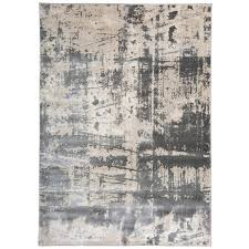 distressed modern abstract high low texture gray area rug rugs kohls