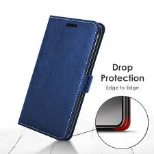 forefront cases google pixel 2 premium handmade pu leather case cover navy blue