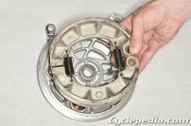 honda shadow 750 service manual vt750dc spirit 2001 2007 cyclepedia honda vt750 shadow spirit rear brake
