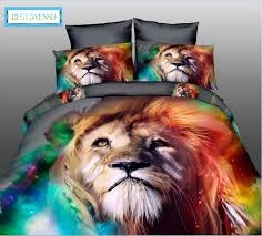 wensd high quality luxury 3d tiger wolf bedding set western style home textiles bed