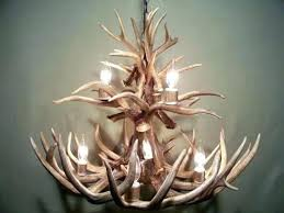real antler chandelier deer diy making elk building at crystal photo for throughout