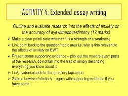 academic tutorial extended essay writing today we will aim to activity 4 extended essay writing outline and evaluate research into the effects of anxiety on