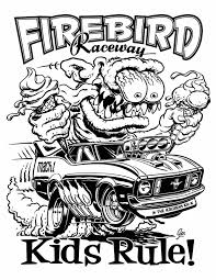 Small Picture Awesome Rat Fink Hot Rod Coloring Book Pages With At Rat Fink