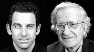 sam harris versus noam chomsky acirc the unrecorded man harris chomsky