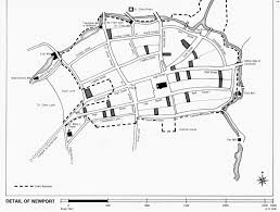 Map of borough of newport c1525 county records
