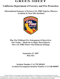 Green Sheet California Department Of Forestry And Fire Protection Pdf