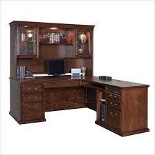 kathy ireland home by martin furniture huntington oxford l shape rhf executive desk with hutch