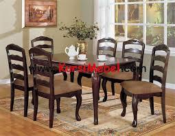 set kursi makan jati klasik modern