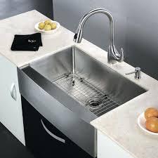 kraus khf200 33 stainless steel 7 8 single basin gauge stainless steel kitchen sink for farmhouse