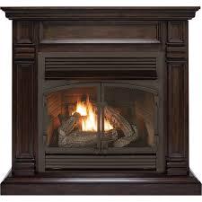 fireplaces procom dual fuel vent free fireplace 32 000 btu chocolate finish propane ventless