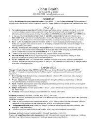 Account Manager Resume Unique Account Manager Resume Sample Template