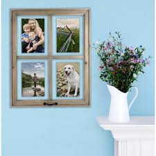 details about 4 open windowpane frame home decor gift family photo picture wall gallery new