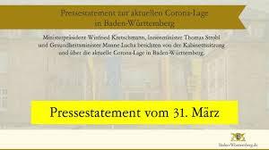 Juni 2020 erlassen und trat am 24. Information Uber Die Aktuelle Corona Lage In Baden Wurttemberg Youtube