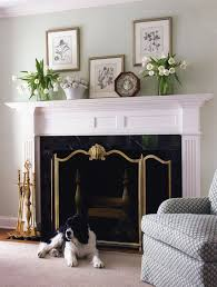 decorated fireplace mantel