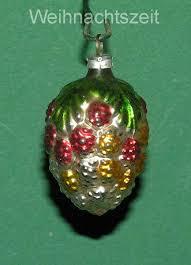 Details Zu Weihnachten Alter Baumschmuck Silberne Traube Mit Grünen Blättern Um 1910