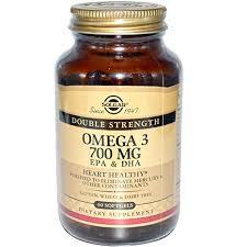 <b>Solgar</b>, <b>Omega</b>-<b>3</b>, EPA & DHA, Double Strength, <b>700</b> mg, 60 Softgels