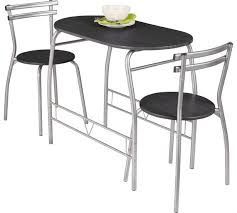 dining table with 2 chairs. home vegas dining table \u0026 2 chairs - black with