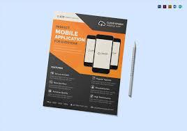 Flyer Design App Mobile App Flyer Template