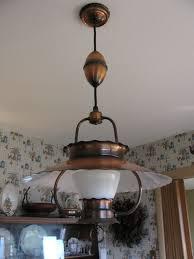 mid century copper hanging ceiling lamp light fixture retractable retractable ceiling light fixture p83