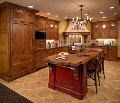 Red Floor Tiles Kitchen Kitchen Wall Design With Red Kitchen Decor Ideas And Brown Floor