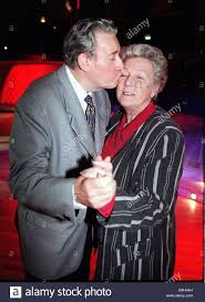 Bryan Mosley actor December 1998 dancing with wife Norma at a ...