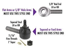 Tie Rod End Taper Chart Hoop Style Steering Arm Chevy Spindle