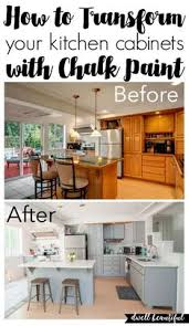 chalk painted kitchen cabinets. How To Paint Your Kitchen Cabinets With Chalk Painted !