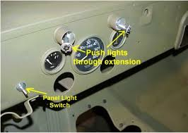 g503 • view topic 1943 willys mb jeep re wire or wiring up your jeep 11 next install the panel lights which are pretty easy to connect and install on the dash follow the diagram and wire up the switch