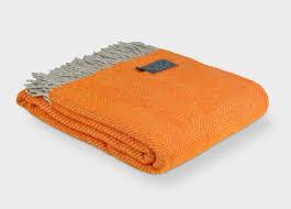 orange and grey herringbone throw  herringbone room and lofts