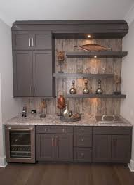 basement cabinets ideas. Kitchenette With Gray Cabinets And Shelves Basement Ideas Pinterest