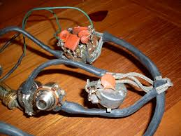 bees, beauties and discs the gibson es 335 335 Wiring Harness this is the harness out of a '60 es 355 stereo with the shielding cans removed you can see the cap on the tone pot is a very compact ceramic disc used so 335 wiring harness custom