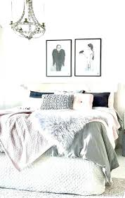 blush bedroom grey and white