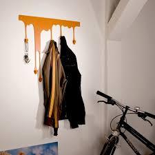 cute wall hook design orange wall hook ideas
