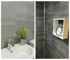 modern tile effect bathroom wall panels