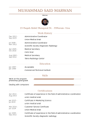 Administrative Coordinator Resume Samples VisualCV Resume Samples Custom Administrative Coordinator Resume