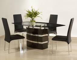 Designer Black Dining Chairs Chic Contemporary Dining Table And Chairs Contemporary
