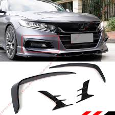 2018 Accord Fog Light Kit Fits For 2018 2019 Honda Accord Akasaka Glossy Black Front Bumper Fog Light Lapm Cover Trim Garnish Kit